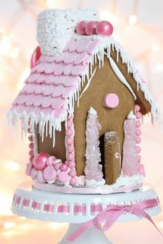 Pink ginger bread house