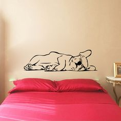 French Bulldog Frenchie Puppy Dog Sleeping Vinyl Wall Decal Sticker Graphic