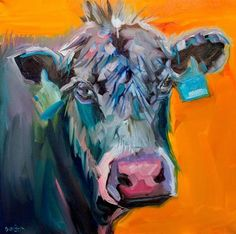 """Daily Paintworks - """"ARTOUTWEST COW CATTLE ANGUS An..."""" by Diane Whitehead"""