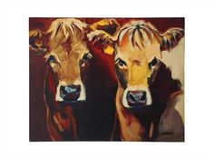 maggie moo cow canvas
