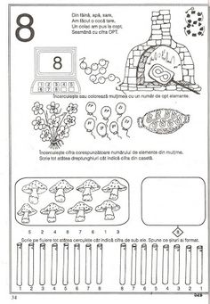 Album Archive - pregatirea pentru scoala a copilului prescolar -matematica Preschool Worksheets, Preschool Activities, Math Numbers, Pre School, Mathematics, Kindergarten, Album, Learning, Printables