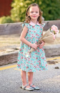 High Tea Dress girls dress floral toddler by CatandMouseClothing