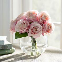 Lark Manor Roses in Glass Vase & Reviews | Wayfair