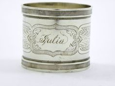 "Sterling+Silver+Napkin+Ring+Cup+""Julia"""