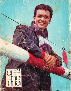 "Romanian actor Iurie Darie. Back cover of ""Cinema"" magazine (December 1966)"