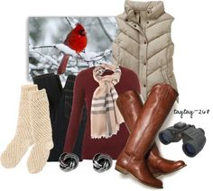 """""""Bird Watching on Christmas Eve"""" by taytay-268 on Polyvore"""