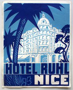 Hotel Ruhl luggage label