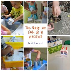 """Beginning a new preschool year with the things we """"can"""" do!"""