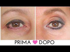 Sguardo più giovane: make up occhi effetto lifting. Trucco over 50 - YouTube
