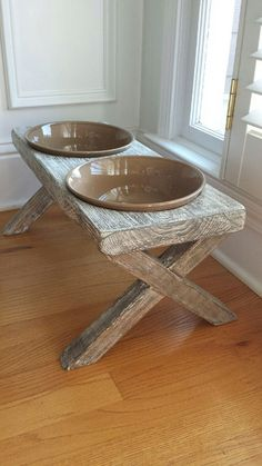 Hey, I found this really awesome Etsy listing at https://www.etsy.com/listing/232554089/xl-raised-dog-bowl-feeder-distressed