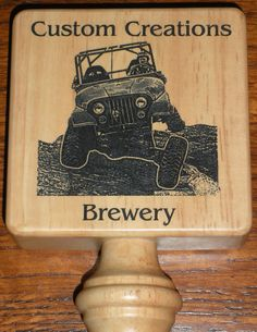 Great place for custom pull tap orders for kegs