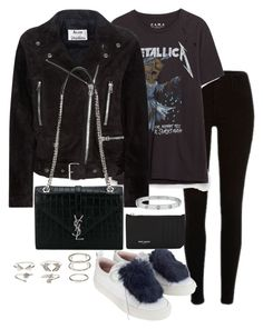 """""""Untitled #3027"""" by theeuropeancloset on Polyvore featuring Josefinas, Acne Studios, Yves Saint Laurent and Charlotte Russe"""