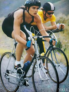 Brook Shields crushing it for Vogue in 1987. On a Vitus?