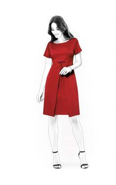 Vestito - Cartamodello  4521 Cartamodelli su misura Lekala da scaricare  gratuitamente Semi-aderente a8566cc9edb