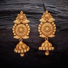 Heritage Design Antique Hanging earrings with Gold Polish.