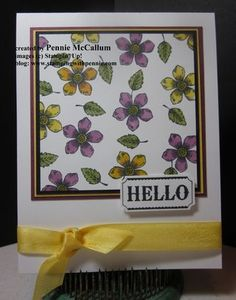 "Petite Petals + Lovely as a Tree & soon to be released by Stampin' Up! ""blendabilities""     by Pennie McCallum"