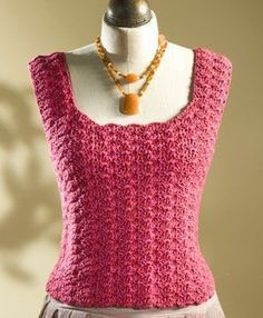 [Free Pattern] This Shell-Stitch Tank Top Is Elegant And Perfect For A Starter Project
