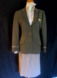 4 pc Eastern Airlines Stewardess Uniform by BearsFoundTreasures...I remember my mom leaving for work wearing this