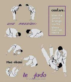 "Borduurpatroon ""Overig"" Kruissteek *Embroidery Cross Stitch Pattern ~Judo~"