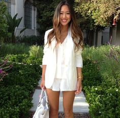 Aimee Song of Style, all white outfit