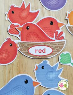 Bird Color Sorting and Math Activities for Preschool and Prek