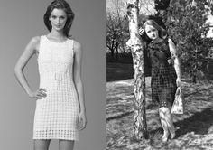 Black crochet dress inspired by Diane von Furstenberg.