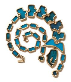 The Aqua Tail Necklace