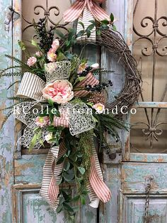 Spring Wreath, Summer Wreath, Grapevine Wreath designed with the highest quality in Season ribbon and florals market has to offer. ▪️Base-round grapevine wreath ▪️Ribbon-dstevens ribbon ▪️Florals-peony Measurements- ▪️Length-44 ▪️Width-26 ••••••••••••••••••••••••••••••••••••••••
