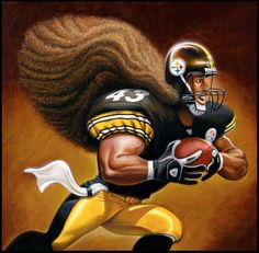 Awwwwww Adorable Troy Polamalu Cartoon with his pretty soft hair! Pittsburgh Steelers Wallpaper, Pittsburgh Steelers Players, Pittsburgh Sports, Nfl Football, Football Players, Dallas Cowboys, Pitsburgh Steelers, Here We Go Steelers, Steelers Stuff