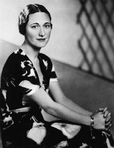 "Wallis Simpson (Bessie Wallis Warfield-Spencer-Simpson) (1896-1986) USA wife of King Edward VIII ""David"" (Edward Albert Christian George Andrew Patrick David) (1894-1972) Prince of Wales UK, Duke & Duchess of Windsor."