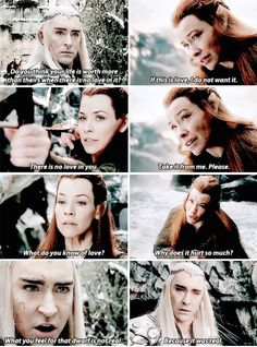 I think Thranduil and Tauriel have a special connection after this because of their individual losses.