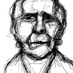 """Old woman"", 2016. Ink on paper.  #lineart #linedrawing #oneline #minimal #figure #woman #oldage #contemporaryart #modernart #figurativeart"