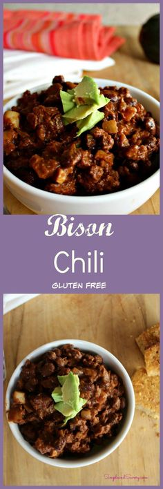 bison chili made with black beans gluten free