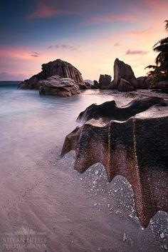 Sunrise beach, La Digue, Seychelles