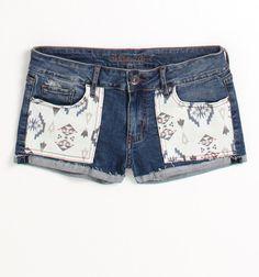 Bullhead Black Pieced Pocket Single Rolled Shorts - PacSun.com