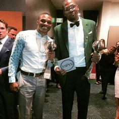Russell, best comeback, & KD, best NBA player and best male athlete, at the ESPYs.