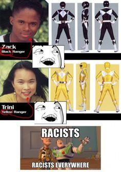 Racist Power Rangers Were Racist