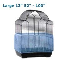Introduction: Unique, nylon mesh seed catcher fits securely around your bird's cage to help elimina