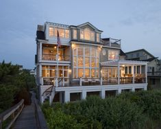 Modern home on the beach with southern charm.