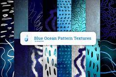 Blue Ocean Pattern Textures @creativework247