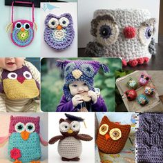 Ten Free Crochetes Owl Patterns...I just love that owl purse at the top left ;)