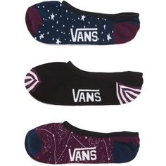 6bdf9a7eb98b Vans Constellation Canoodle Socks 3 Pack ( 15) ❤ liked on Polyvore  featuring intimates