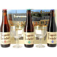 Coffret cadeau Trappistes Rochefort - 3 Bières Trappistes 3 rochefort - 2 verres bière trappistes