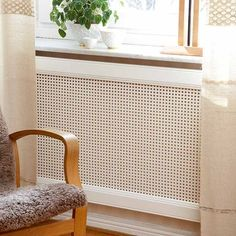 Rattan Weave i 2020 Home Office Design, House Design, Contemporary Radiators, Diy Furniture, Furniture Design, Home Interior, Interior Design, Cafe House, Radiator Cover