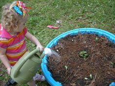 A great idea to make a raised bed garden with the kiddie pool that blew into my yard from the storms a couple months ago.  I'm thinking about making a mini herb garden with a cool layout.