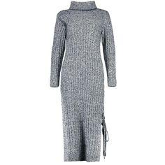 Boohoo Poppy Rib Knit Maxi Dress   Boohoo ($28) ❤ liked on Polyvore featuring dresses, rib knit dress, poppy dress, poppy print dress, boohoo dresses and ribbed knit dress