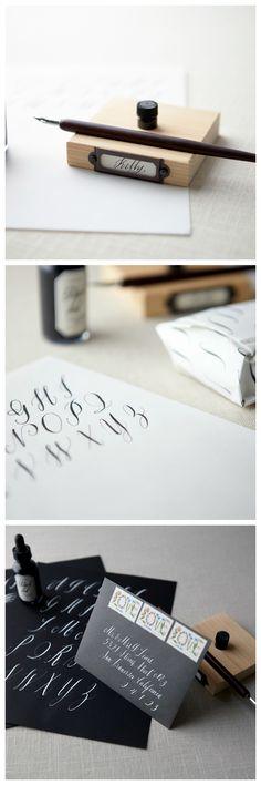 Beginning Calligraphy classes with Maybelle Imasa #creativebug #calligraphy #fonts #handwritten #tutorial