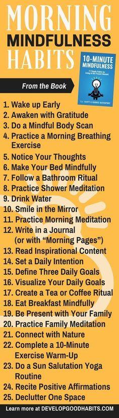 Morning Mindfulness excercises & habits