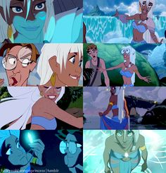 Movie: Atlantis The Lost Empire. Ahhh! I used to have a crystal necklace like hers the glowed.