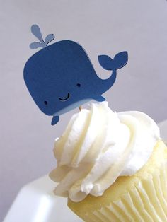 whale cupcake topper
